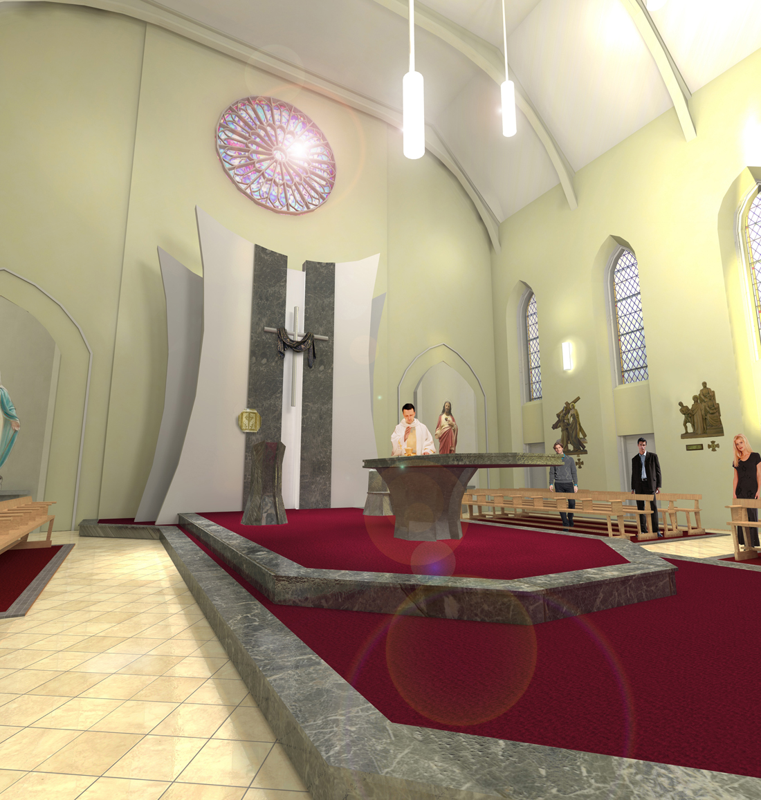 allenwood revised interior_altar perspective_low